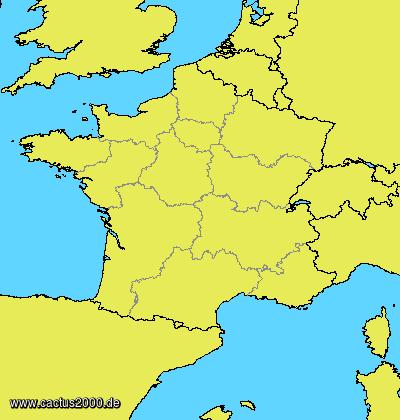 Frankreich Departements Karte.Departementnummern Frankreich